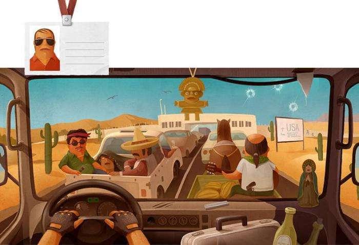 Види з кабін далекобійників різних країн (13 фото)