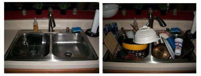 Коли дружина вдома, і коли вона у відрядженні (7 фото)