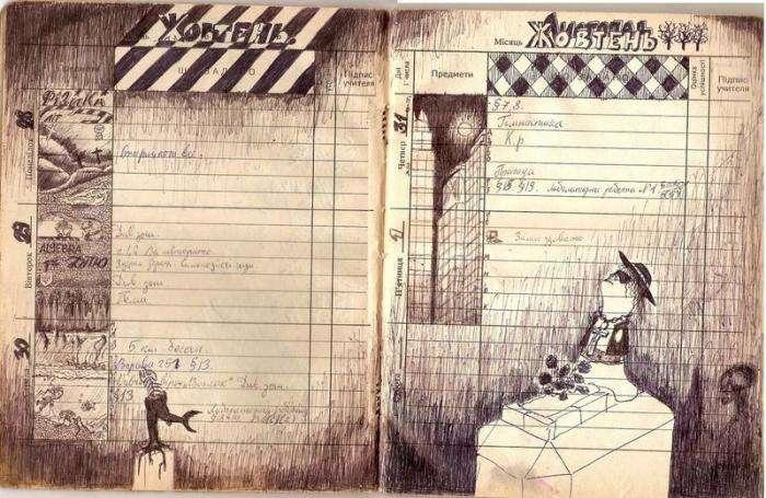 Щоденник нудьгуючого учня (6 фото)