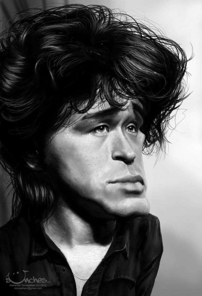 Карикатури на знаменитостей від ілюстратора Олександра Новосельцева (24 фото)