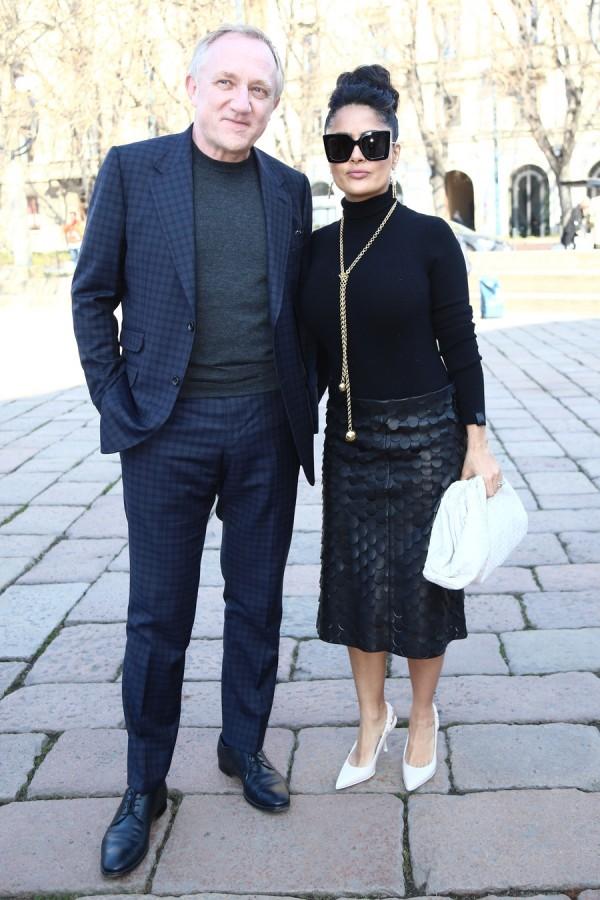 Звезды на Неделе моды в Милане salma hayek