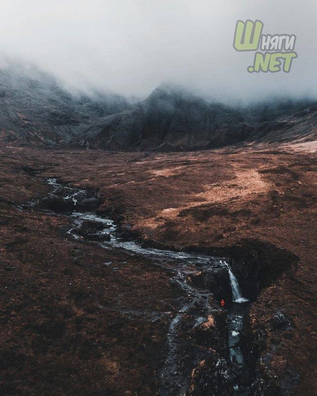Пасмурные пейзажи Шотландии шотландия