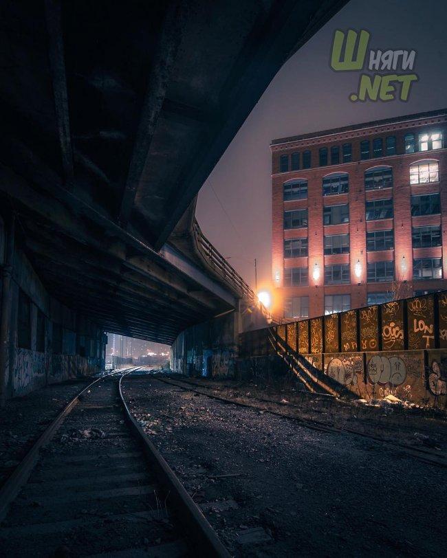 Краски ночного Чикаго чикаго
