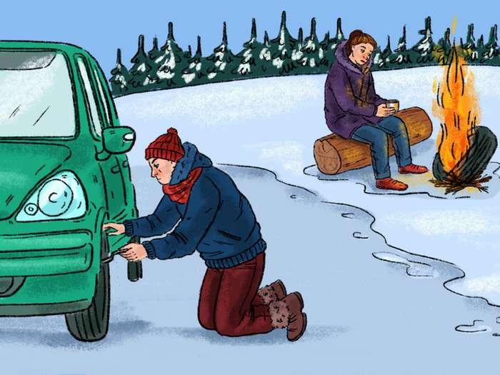 4совета, которые помогут выжить, если выостались сморозом один наодин Интересное