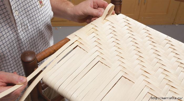 Реставрация стульев с плетеным сиденьем Мебель