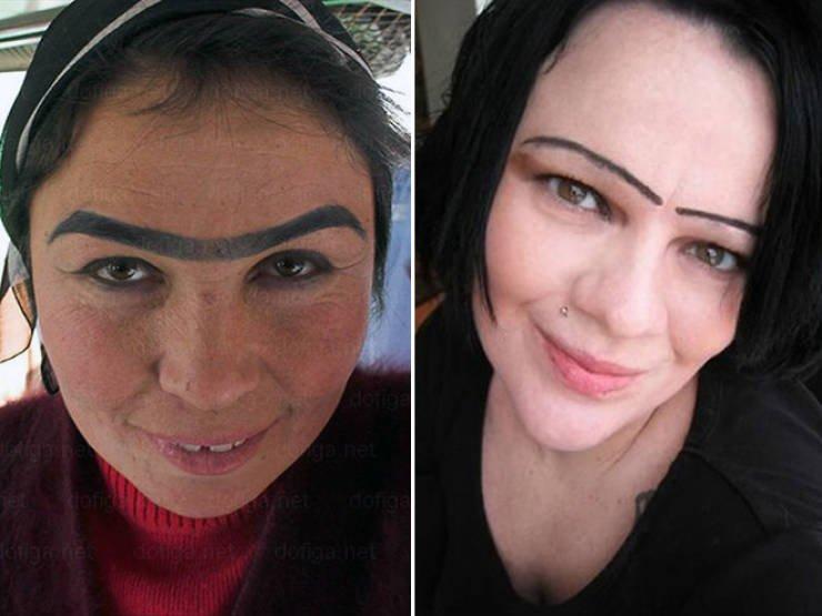 Женщины – брови: счёт 0:1 Красота страшная сила
