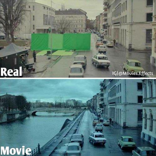 Instagram-аккаунт, показывающий сцены из фильмов до и после добавления спецэффектов