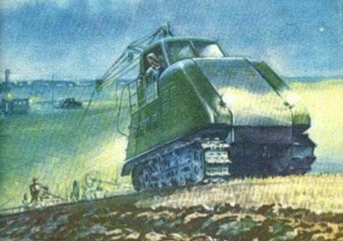 По полю на проводе. Электротрактор ХТЗ-12 история