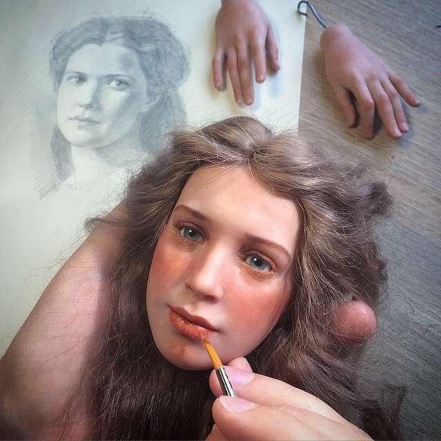 Авторские куклы Михаила Зайкова. Так реалистично, даже немного жутковато! handmake