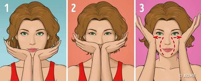 Японский массаж лица избавит от морщин и отеков за 5 минут в день полезные советы