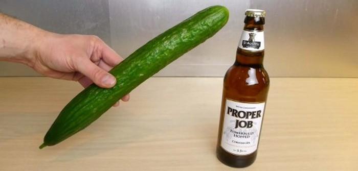 Спасаем вечеринку: как открыть бутылку пива с помощью огурца домашний очаг...